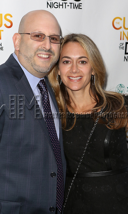 Mark Kaufman and wife Stacey Kaufman attend the Broadway Opening Night Performance of 'The Curious Incident of the Dog in the Night-Time'  at the Barrymore Theatre on October 5, 2014 in New York City.