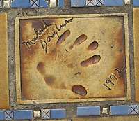 Hand print of the film star, Michael Douglas, outside the Palais des Festivals et des Congres, Cannes, France.