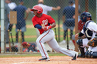 Washington Nationals Khayyan Norfork (15) during a minor league Spring Training game against the Detroit Tigers on March 28, 2016 at Tigertown in Lakeland, Florida.  (Mike Janes/Four Seam Images)
