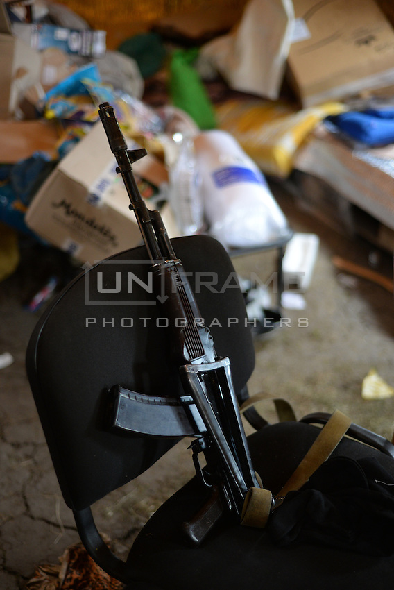 Weapon used by pro-Russian activists