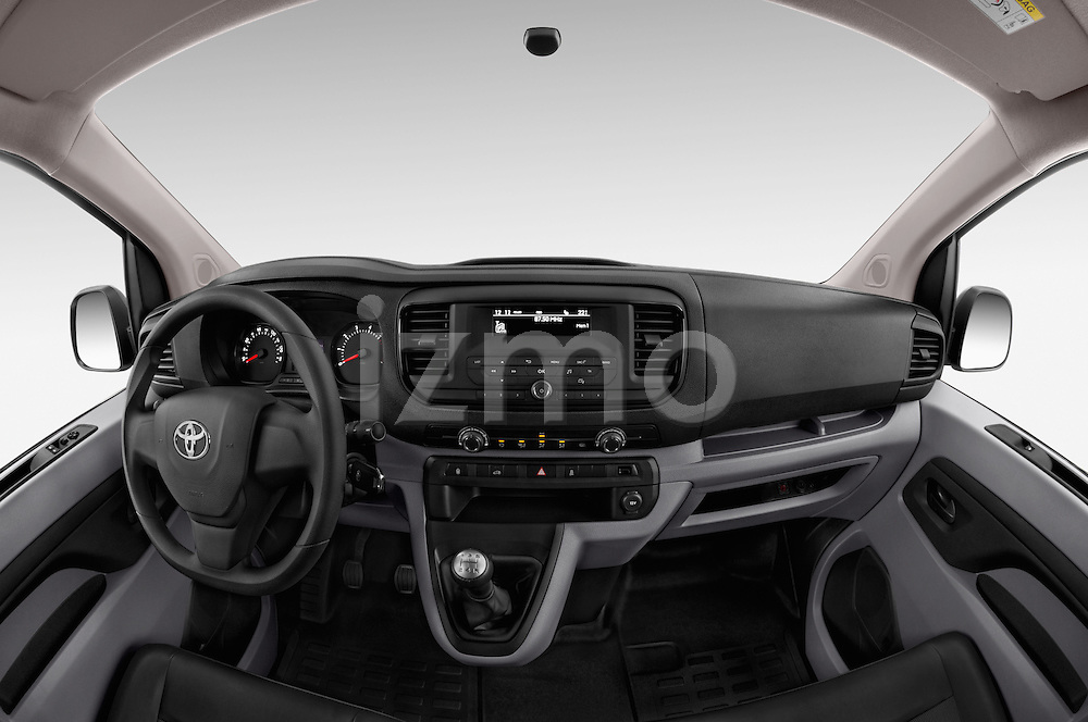 Stock photo of straight dashboard view of 2016 Toyota Proace Comfort 4 Door Cargo Van Dashboard