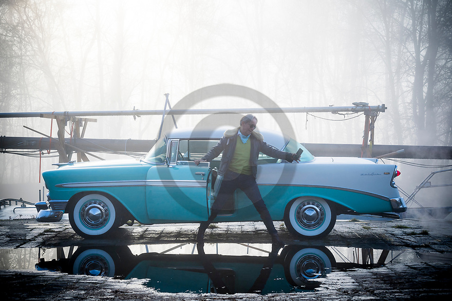 18/12/19 - SAMOIS SUR SEINE - SEINE ET MARNE - FRANCE - Essais CHEVROLET Bel Air de 1956 - Photo Jerome CHABANNE