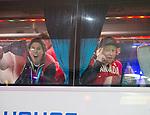 Michelle Salt and John Leslie, Sochi 2014.<br /> Team Canada arrives at the airport in Sochi for the Sochi 2014 Paralympic Winter // Équipe Canada arrive à l'aéroport de Sotchi pour Sochi 2014 Jeux paralympiques d'hiver. 05/03/2014.