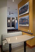 Stock photo of breakfast nook in modern kitchen