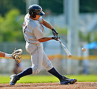 4 July 2012: Hudson Valley Renegades infielder Luke Maile in action against the Vermont Lake Monsters at Centennial Field in Burlington, Vermont. The Lake Monsters edged out the Renegades the Cyclones 2-1 in NY Penn League action. Mandatory Credit: Ed Wolfstein Photo