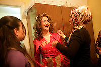 Traditional Turkish wedding celebrations or the kina gecesi in Istanbul, Turkey