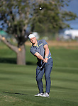 Cincinnati Bengal's A.J. Hawk watches a shot in the final round of the American Century Championship at Edgewood Tahoe Golf Course in Stateline, Nev., on Sunday, July 19, 2015. <br /> Photo by Cathleen Allison