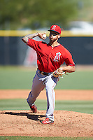Los Angeles Angels of Anaheim pitcher Erik Manoah (40) during an Instructional League game against the San Francisco Giants on October 13, 2016 at the Tempe Diablo Stadium Complex in Tempe, Arizona.  (Mike Janes/Four Seam Images)