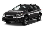 2018 Subaru Crosstrek 4wd 5 Door SUV angular front stock photos of front three quarter view