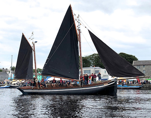 The mighty Mac Duach, built in 1979. Originally she was cutter-rigged, and it was under that rig that Mick Brogan sailed her to the Faroes and many other distant places