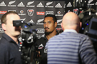 at the All Blacks media conference ahead of the test match against England, Southern Cross Hotel, Dunedin, New Zealand, Thursday, June 12, 2014. Credit: SNPA/Dianne Manson