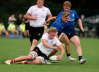 Saturday 5th September 2021<br /> <br /> Paddy Brown during U19 inter-pro between Ulster Rugby and Leinster at Newforge Country Club, Belfast, Northern Ireland. Photo by John Dickson/Dicksondigital