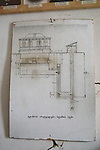 Architechual Drawing Of Hidden Printing Press, Underground Printing House Museum