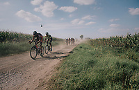 Rob Peeters (BEL/Pauwels sauzen - Vastgoedservice) over a gravel section<br /> <br /> 92nd Schaal Sels 2017 <br /> 1 Day Race: Merksem > Merksem (188km)