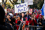 "Trump supporters scream at anti-Trump protesters during the ""Million MAGA March"" on November 14, 2020 in Washington, D.C.  Thousands of supporters of U.S. President Donald Trump gathered to protest the results of the 2020 presidential election won by President-Elect Joe Biden.  Photograph by Michael Nagle"