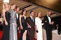 GUEST, LEA SEYDOUX, GASPARD ULLIEL, MARION COTILLARD, DIRECTOR XAVIER DOLAN, NATHALIE BAYE AND VINCENT CASSEL - RED CARPET OF THE FILM 'JUSTE LA FIN DU MONDE' AT THE 69TH FESTIVAL OF CANNES 2016