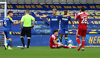 Jaakko Oksanen of AFC Wimbledon fouls Ryan Cassidy of Accrington Stanley during AFC Wimbledon vs Accrington Stanley, Sky Bet EFL League 1 Football at The Kiyan Prince Foundation Stadium on 3rd October 2020