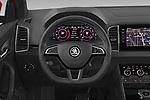 Car pictures of steering wheel view of a 2020 Skoda Karoq Sport-Line 5 Door SUV Steering Wheel