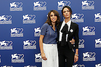 Silvia D'Amico and Roberta Mattei attend a photocall for the movie 'Don't Be Bad' during the 72nd Venice Film Festival at the Palazzo Del Cinema in Venice, Italy, September 7, 2015.<br /> UPDATE IMAGES PRESS/Stephen Richie