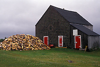 woodpile, Cape Breton, Cabot Trail, Nova Scotia, NS, Canada, Wood piled in front of a house in Sugarloaf on Cape Breton Island on in Nova Scotia.