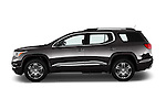 Car Driver side profile view of a 2018 GMC Acadia Denali 5 Door SUV Side View