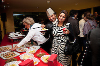 Switzerland. Geneva. World Health Organisation (WHO). Stop TB Partnership. Evening party for a group of national ambassadors against tuberculosis. Deepak Raj Giri (L), Nepal, TV movie actor. Deespasri Niraula (R), Nepal, TV movie actress. 5.12.2011 © WHO /Didier Ruef