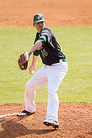 Charlotte 49ers relief pitcher Brandon Vogler (16) in action against the Canisius Golden Griffins at Hayes Stadium on February 23, 2014 in Charlotte, North Carolina.  The Golden Griffins defeated the 49ers 10-1.  (Brian Westerholt/Four Seam Images)