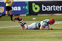 TRY - Keiran Murphy of Ealing Trailfinders scores during the Greene King IPA Championship match between Ealing Trailfinders and Nottingham Rugby at Castle Bar , West Ealing , England  on 30 March 2019. Photo by Carlton Myrie.
