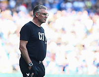 28th August 2021; Cardiff City Stadium, Cardiff, Wales;  EFL Championship football, Cardiff versus Bristol City; Nigel Pearson, Manager of Bristol City watches on during the second half
