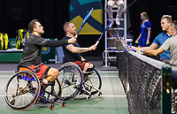 Rotterdam, The Netherlands, 6 march  2021, ABNAMRO World Tennis Tournament, Ahoy,  <br /> Semi final wheelchair: Stephane Houdet (FRA) / Nicolas Peifer (FRA).Photo: www.tennisimages.com/henkkoster