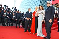 Jane Campion, David Lynch, Isabelle Huppert, Pedro Almodovar, George Miller, Catherine Deneuve et Roman Polanski sur le tapis rouge pour la soirée dans le cadre de la journée anniversaire de la 70e édition du Festival du Film à Cannes, Palais des Festivals et des Congres, Cannes, Sud de la France, mardi 23 mai 2017.