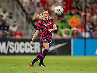 AUSTIN, TX - JUNE 16: Abby Dahlkemper #7 of the USWNT crosses the ball during a game between Nigeria and USWNT at Q2 Stadium on June 16, 2021 in Austin, Texas.