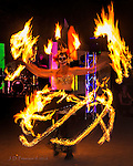 Dia de Los Muertos, Sedona, Arizona ©2016 James D Peterson.  Amember of the Circus Farm troupe of fire dancers performs for this traditional celebration at Tlaquepaque.
