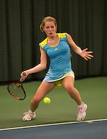 Rotterdam, The Netherlands, 07.03.2014. NOJK ,National Indoor Juniors Championships of 2014, Jacky Hesselberth (NED)<br /> Photo:Tennisimages/Henk Koster