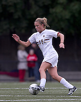 Boston College midfielder Kristen Mewis (19) dribbles. Boston College defeated North Carolina State,1-0, on Newton Campus Field, on October 23, 2011.