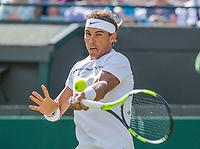 London, England, 3 th July, 2017, Tennis,  Wimbledon,  Rafael Nadal (ESP)<br /> Photo: Henk Koster/tennisimages.com