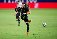 CARSON, CA - SEPTEMBER 06: Tristan Blackmon #27 of LAFC crosses a ball during a game between Los Angeles FC and Los Angeles Galaxy at Dignity Health Sports Park on September 06, 2020 in Carson, California.