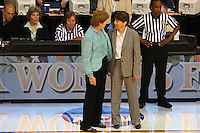 8 April 2008: Stanford Cardinal head coach Tara VanDerveer during Stanford's 64-48 loss against the Tennessee Lady Volunteers in the 2008 NCAA Division I Women's Basketball Final Four championship game at the St. Pete Times Forum Arena in Tampa Bay, FL.