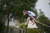 FIERLJEPPEN: IJLST: 18-07-2018, winnaar Nard Brandsma 20.24 meter, ©foto Martin de Jong
