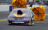 Sept. 17, 2011; Concord, NC, USA: NHRA pro stock driver Vincent Nobile during qualifying for the O'Reilly Auto Parts Nationals at zMax Dragway. Mandatory Credit: Mark J. Rebilas-US PRESSWIRE