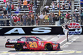 2017 NASCAR Xfinity Series<br /> My Bariatric Solutions 300<br /> Texas Motor Speedway, Fort Worth, TX USA<br /> Saturday 8 April 2017<br /> Erik Jones, Game Stop/ GAEMS Toyota Camry, celebrates after winning the Xfinity race in Texas.<br /> World Copyright: John K Harrelson/LAT Images<br /> ref: Digital Image 17TEX1jh_02874