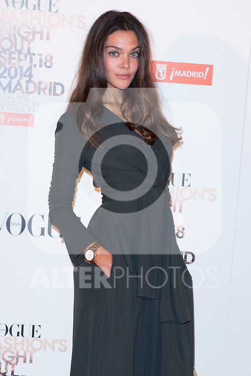 """Ana Rujas attends the """"VOGUE FASHION NIGHT OUT"""" Photocall at Jose Ortega y Gaset street in Madrid, Spain. September 18, 2014. (ALTERPHOTOS/Carlos Dafonte)"""
