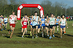 The race is on for the Senior Men/Masters.<br /> Welsh Cross Country Championships<br /> Leckwith Stadium<br /> 20.02.05<br /> ©Steve Pope<br /> Sportingwales.com<br /> 07798 83 00 89<br /> The Manor <br /> Coldra Woods<br /> Newport<br /> South Wales<br /> NP18 1HQ