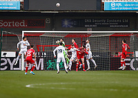 10th January 2021; Broadfield Stadium, Crawley, Sussex, England; English FA Cup Football, Crawley Town versus Leeds United; Kiko Casilla goal keeper for Leeds united making another telling save