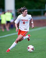 Morgan Brian (6) of Virginia brings the ball forward at Klockner Stadium in Charlottesville, VA.  Virginia defeated Clemson, 3-0.