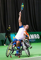 Rotterdam, The Netherlands, 12 Februari 2019, ABNAMRO World Tennis Tournament, Ahoy, first round wheelchair doubles: Gilles Simon (FRA) - Tomas Berdych (CZE),<br /> Photo: www.tennisimages.com/Henk Koster