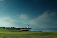 Turnberry Lighthouse and the 10th green of Turnberry Golf Course, Ayrshire<br /> <br /> Copyright www.scottishhorizons.co.uk/Keith Fergus 2012 All Rights Reserved