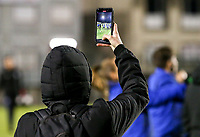 Club Brugge social media officer is films the warm up before a female soccer game between FC Femina White Star Woluwe and Club Brugge YLA on the eleventh matchday of the 2020 - 2021 season of Belgian Scooore Womens Super League , Friday 22 January 2021  in Woluwe , Belgium . PHOTO SPORTPIX.BE | SPP | SEVIL OKTEM