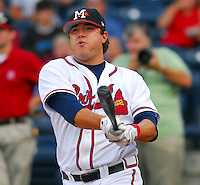 09 July 2007: Matt Esquivel from the 2007 Southern League All-Star Game sponsored by the Mississippi Braves, the Atlanta Braves' Class AA affiliate in Pearl, Miss.