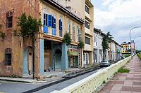 Ipoh, Malaysia.  Street Scene, Old Shop Houses.